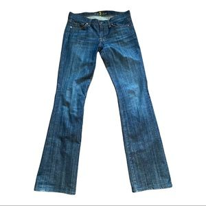 7 For All Mankind Mid Rise Bootcut Jeans U075J004ERS Extra Long Inseam Size 29